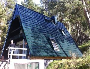 Blechdach in Dachziegeloptik