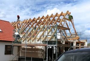 Neuerrichtung Dachstuhl auf Anbau